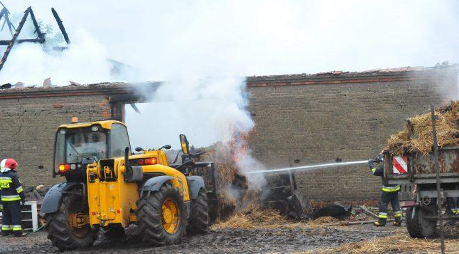 Pożar  stodoły w miejscowości Zbęchy