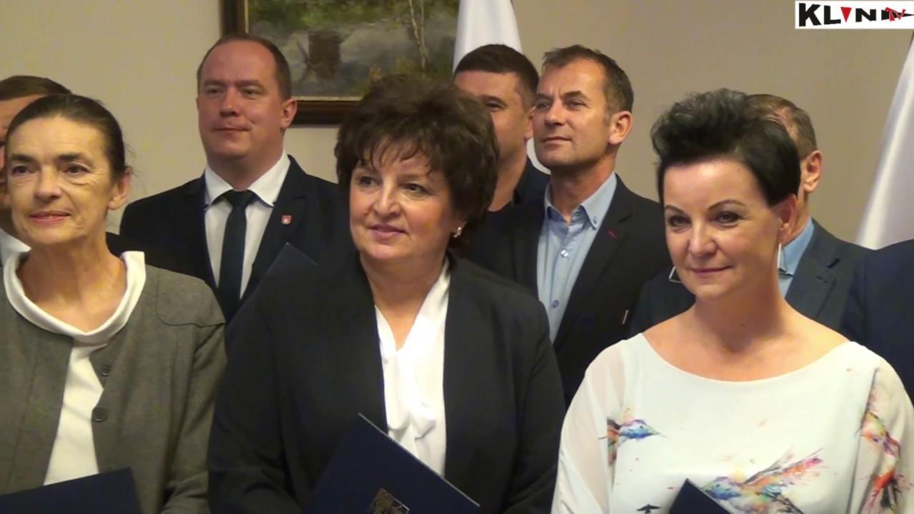 Rada Powiatu Kościańskiego VI kadencji – Wręczanie zaświadczeń