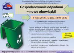 Gospodarowanie odpadami – nowe obowiązki!