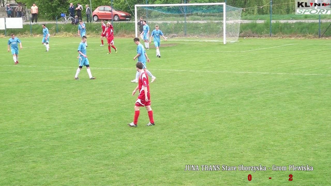Juna-trans Stare Oborzyska – Grom Plewiska 1-5 ( 0-2) Skrót meczu