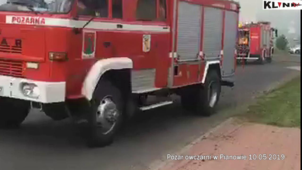 Pożar owczarni w Pianowie – Trwają poszukiwania pracownika!!! VIDEO