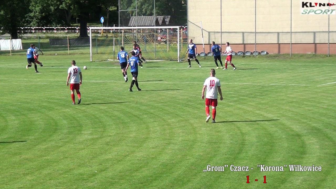 """Skrót meczu ,,Grom'' Czacz –  """"Korona"""" Wilkowice  2-4 ( 1-2)"""